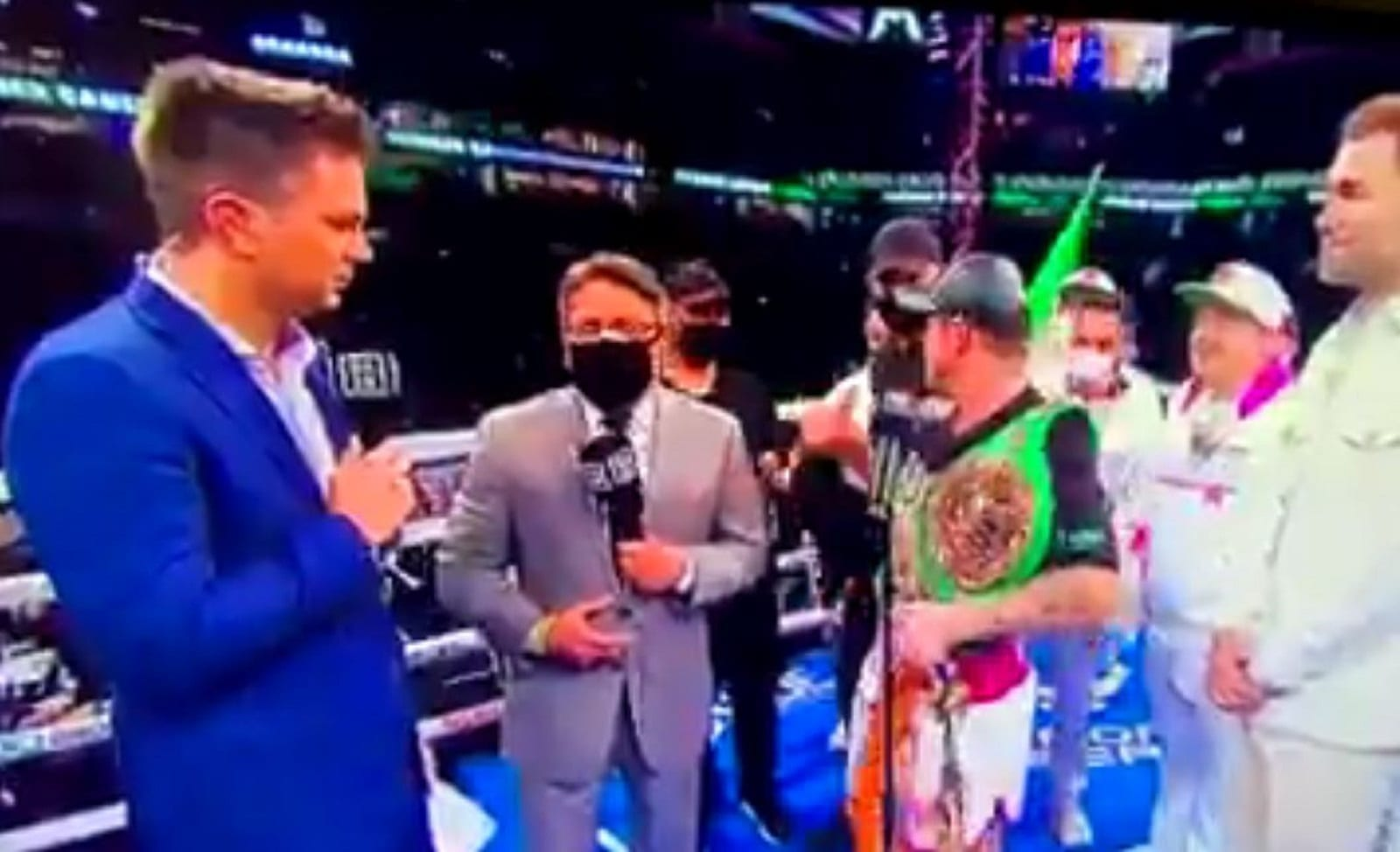 Canelo-Tells-Two-Imposters-Who-Invaded-The-Ring-To-Beat-It
