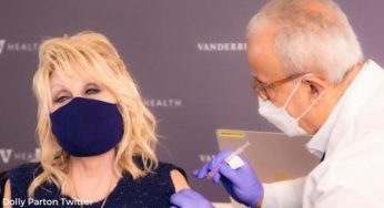 Dolly Parton Shares Picture Of Her Receiving The COVID-19 Vaccine Which SHE Funded