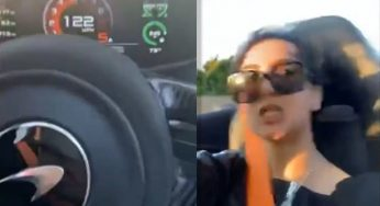 Woman Who Attacked Uber Driver Records Herself at Dangerous Speeds in Sports Car