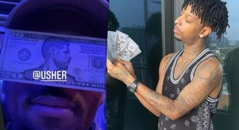 Chris Brown & 21 Savage Are All About Usher's Fake Money