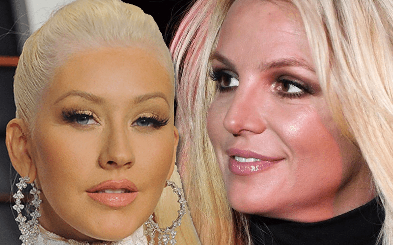 Christina Aguilera Shows Big Support For Freedom Of Britney Spears