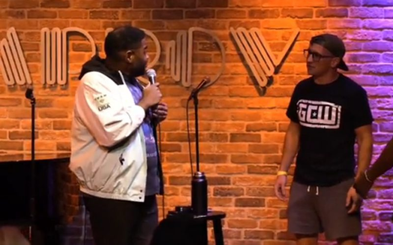 Pro Wrestler Rushes Stage Looking For Fight During Ron Funches Comedy Show