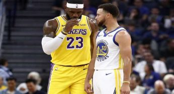 Lebron James Trolls Steph Curry During Lakers vs Warriors Game