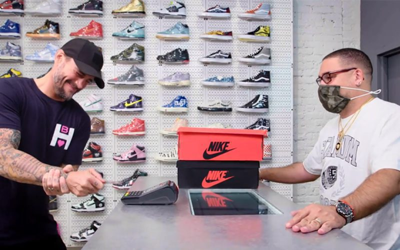 CM Punk Spends Almost $2k On Sneakers In Shopping Spree