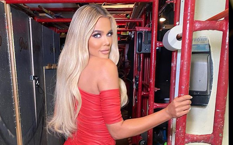 Khloe Kardashian Stuns In Red Leather Mini Dress After 'SNL' Appearance
