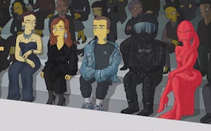 Kim Kardashian & Kanye West Get The Simpsons Treatment