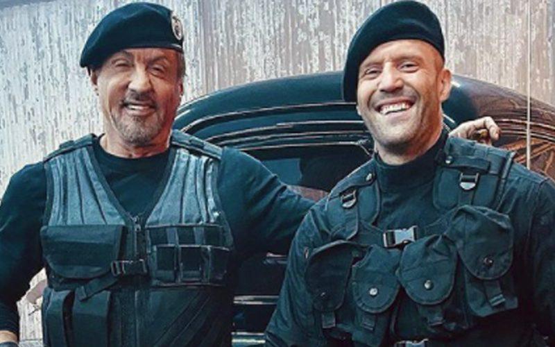 Sylvester Stallone & Jason Statham Reunite In Expendables 4 Set Photo