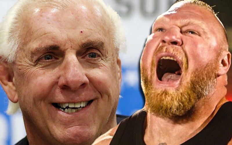 Brock Lesnar & Ric Flair Scheduled For Joe Rogan's Podcast