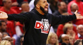 Drake's Heckling Causes Technical Foul During Toronto Raptors vs Washington Wizards Game