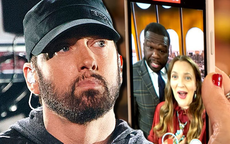 Drew Barrymore Jacks 50 Cent's Phone To Text Eminem