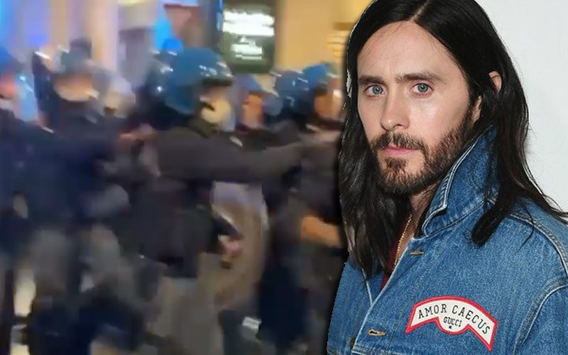 Jared Leto Tear Gassed In Rome During Protest